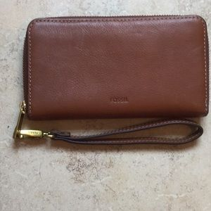 FOSSIL WRISTLET BROWN LEATHER
